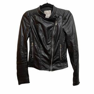 Zara Trafaluc Black Moto Jacket